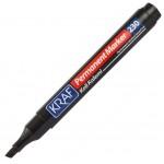 Kraf Permanent Marker Kesik Uçlu Kalem Siyah
