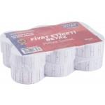 Kraf Motex Etiket 12x21 mm Beyaz Çizgili