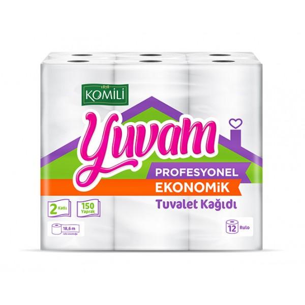 Komili Yuvam 48 Rulo Ev Tipi Tuvalet Kağıdı - EKO 150Y