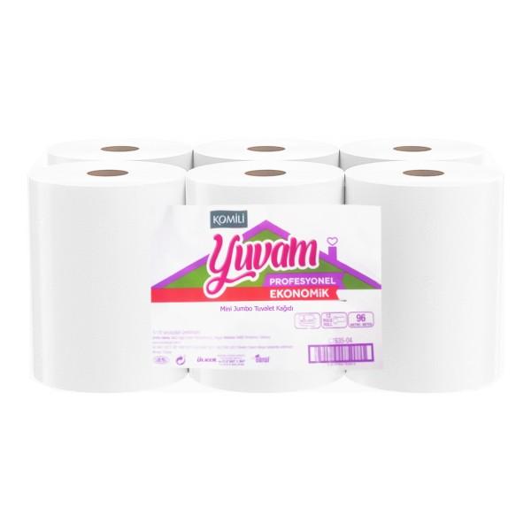 Komili Yuvam 4 KG 12 Rulo Mini Jumbo Tuvalet Kağıdı - Eko 96M