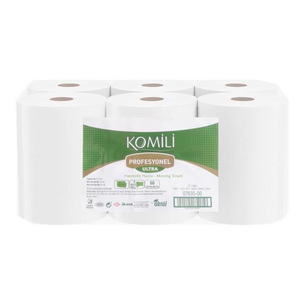 Komili Profesyonel  3,5 KG 6 Rulo Ultra Hareketli Havlu Kağıt 59 M