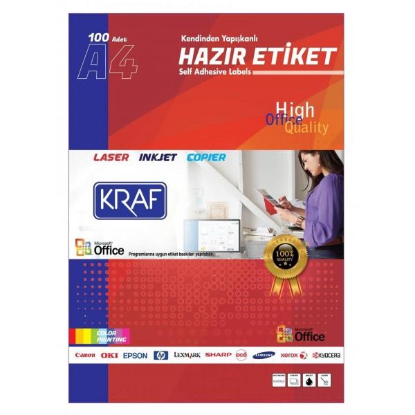 Kraf Laser Etiket KF-2024 64 X 34 mm