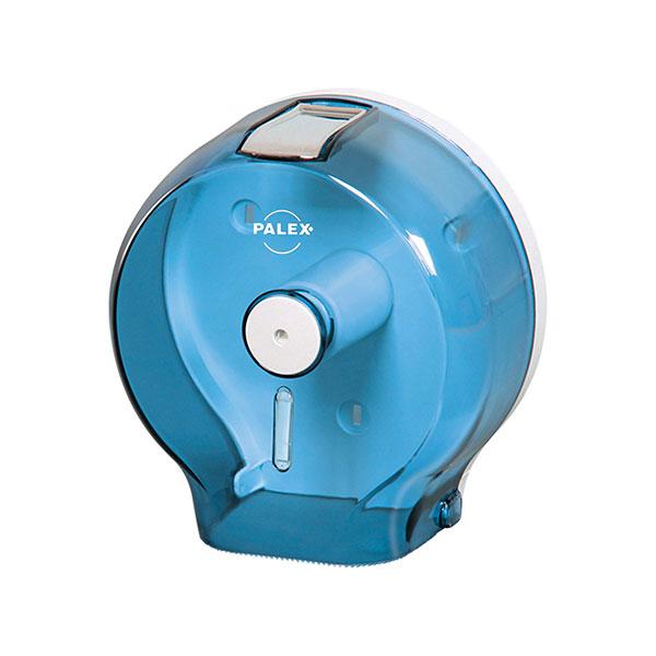 Palex Jumbo Dıştan Çekmeli Tuvalet Kağıdı Dispenseri - Şeffaf Mavi