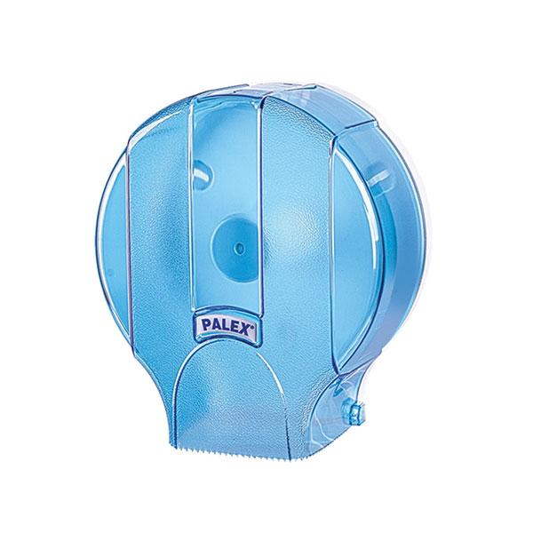 Palex Standart Jumbo Dıştan Çekmeli Tuvalet Kağıdı Dispenseri - Şeffaf Mavi