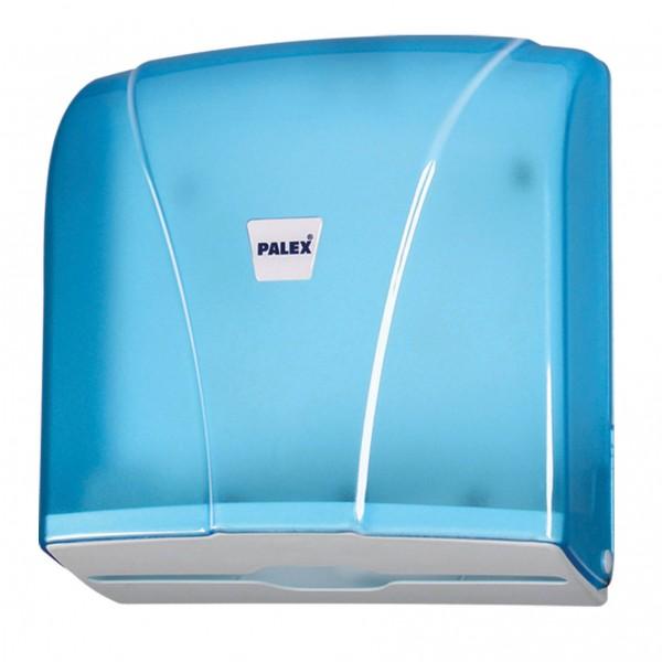 Palex Z Katlamalı Havlu Dispenseri - Şeffaf Mavi 21 cm