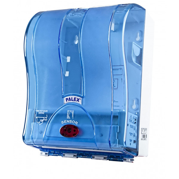 Palex Prestij Sensörlü Havlu Dispenseri - Şeffaf Mavi 21 cm