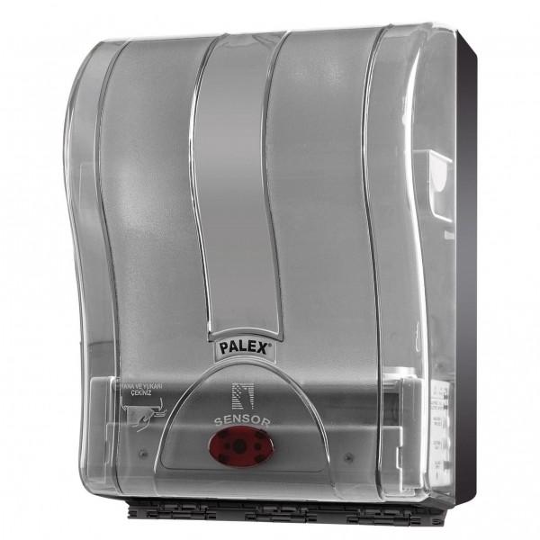 Palex Prestij Sensörlü Havlu Dispenseri - Şeffaf Füme 21 cm