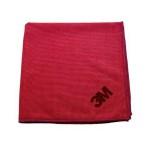 Scotch Brite 3M Mikrofiber Bez Kırmızı 36 x 36 Cm - 10 Adet