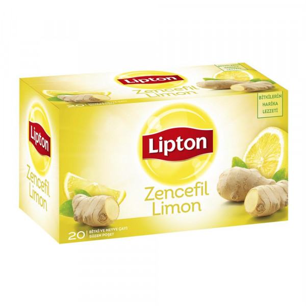 Lipton Bardak Poşet Çay Zencefil Limon 2 G X 20 Adet