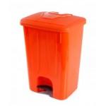 Ceyhanlar Pedallı Çöp Kovası 50 LT Turuncu