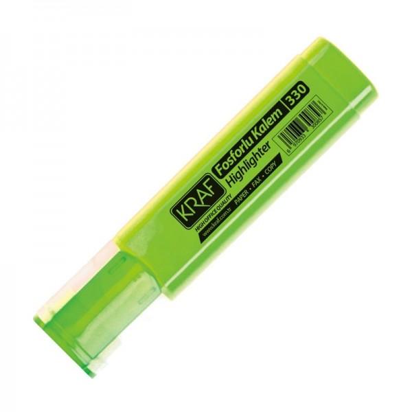 Kraf Fosforlu Kalem 330 Yeşil