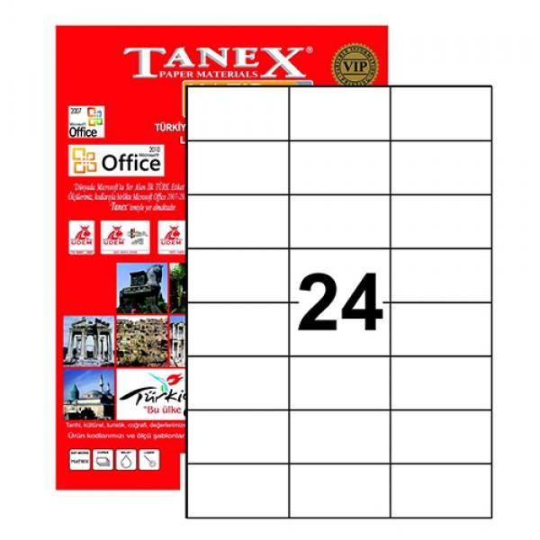 Tanex Tw-2037 Yazıcı Etiketi 70 X 37 Mm 2.400 Adet - Beyaz