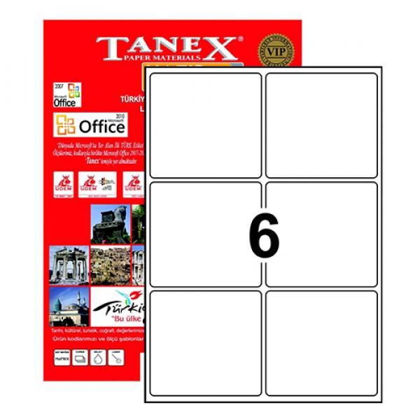 Tanex Tw-2006 Yazıcı Etiketi 99.1 X 93.1 Mm 600 Adet - Beyaz