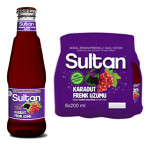 Sultan Maden Suyu Karadut & Frenk Üzümü 200 ML x 6 Adet