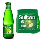 Sultan Maden Suyu Elmalı 200 ML x 6 Adet