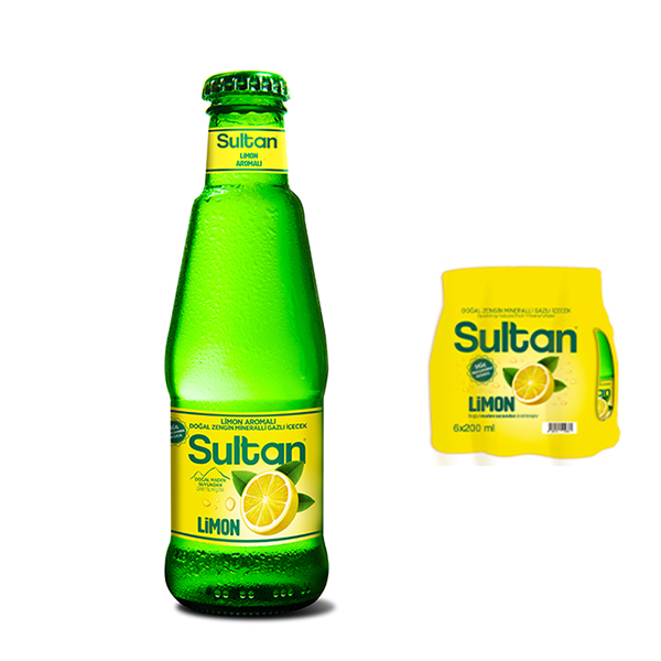 Sultan Maden Suyu Limon 200 Ml x 6 Adet