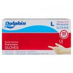 Dolphin Muayene Eldiveni Vinil Pudrasız 100 Adet Beyaz - Large