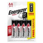 Energizer Max Alkaline AA Kalem Pil 1.5 V 4 Adet